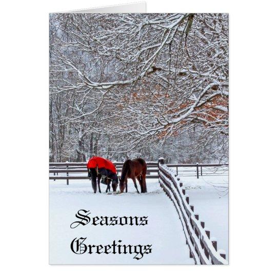 Winter Hearts Greeting Card
