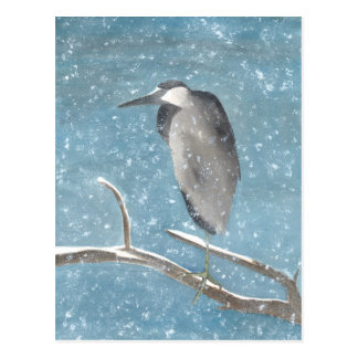 Winter Heron Postcard