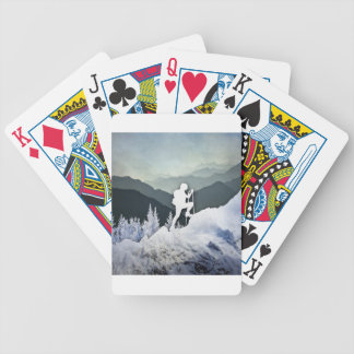 Winter Hike Bicycle Playing Cards