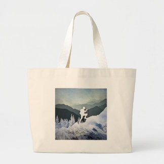Winter Hike Large Tote Bag
