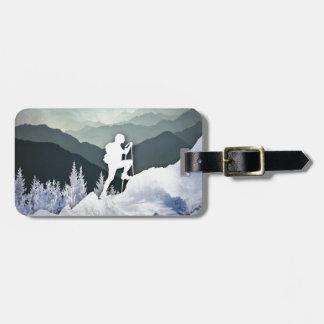 Winter Hike Luggage Tag