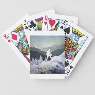 Winter Hike Poker Deck