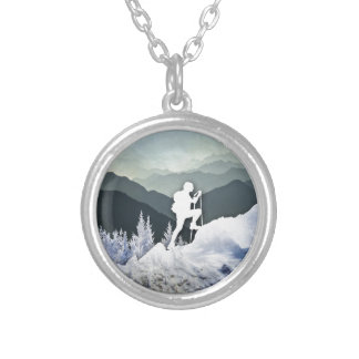 Winter Hike Silver Plated Necklace