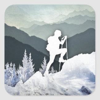 Winter Hike Square Sticker