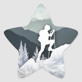 Winter Hike Star Sticker
