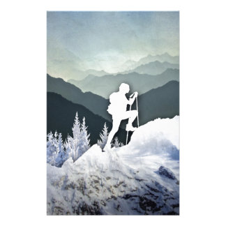 Winter Hike Stationery