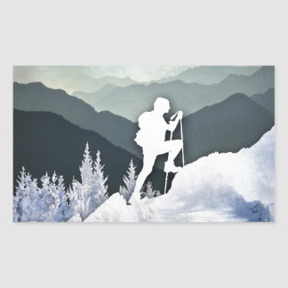 Winter Hike Sticker