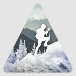 Winter Hike Triangle Sticker