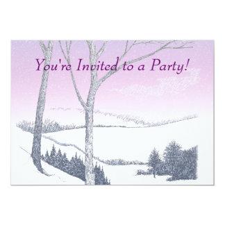 "Winter Hillside 5"" X 7"" Invitation Card"