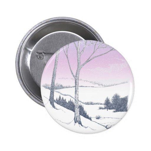Winter Hillside Button