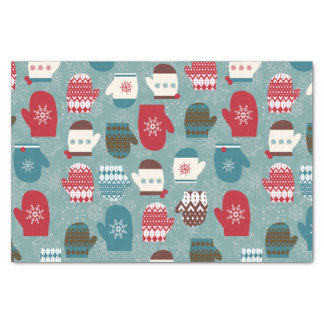Winter Holiday Christmas Mittens Tissue Paper