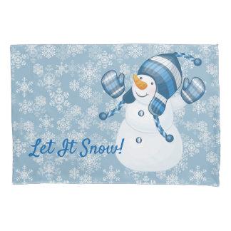 Winter Holiday Pillow Case-Snowman Pillowcase