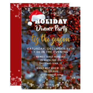Winter Holiday Season Dinner Party Invitation