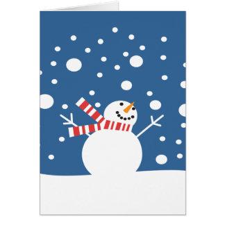 Winter Holiday Snowman Greeting Card