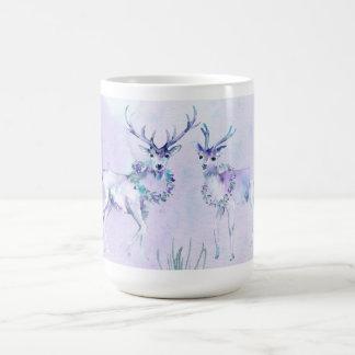 Winter Holiday - Watercolor Deer Scene Coffee Mug