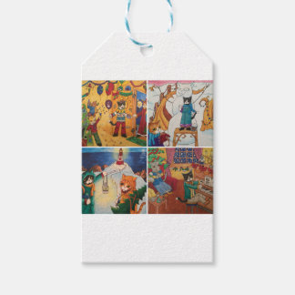 Winter Holidays Wrapping Paper Gift Tags