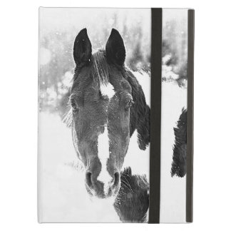 Winter Horse B&W iPad Air Case