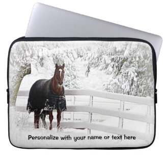 Winter Horse Laptop Sleeve