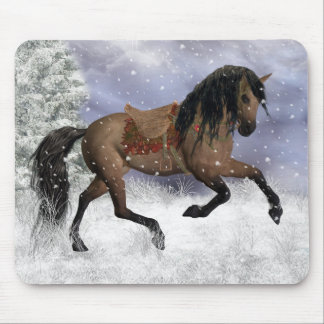 Winter Horse Mouse Pad, Mouse Mat - Equine Winter