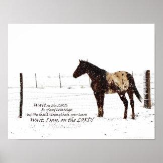 Winter Horse & Scripture 11x14 Matte Poster