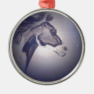 Winter Horse Silver-Colored Round Ornament