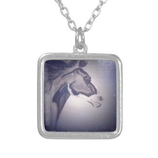 Winter Horse Silver Plated Necklace