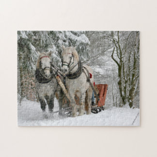 Winter Horses Jigsaw Puzzle