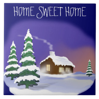 Winter Housewarming: Snowy Home Sweet Home Tile