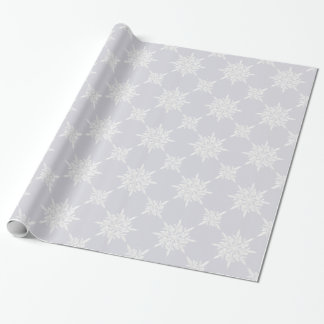 Winter Ice Crystals Lavender Wrapping Paper