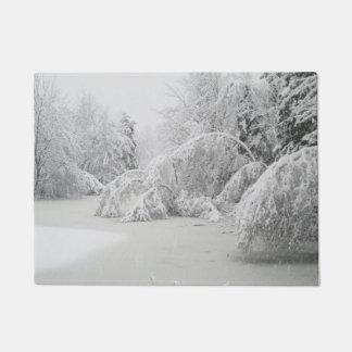 Winter Ice Forest Doormat