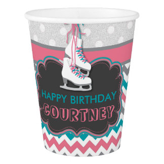 Winter Ice Skating Birthday Party Personalized Cup