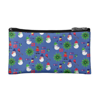 Winter Ice Skating Print Makeup Bag