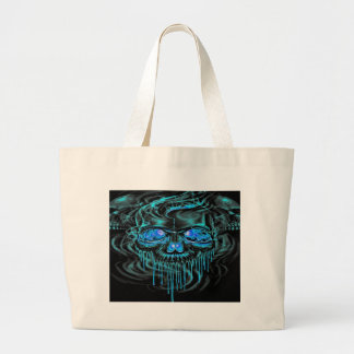 Winter Ice Skeletons Large Tote Bag