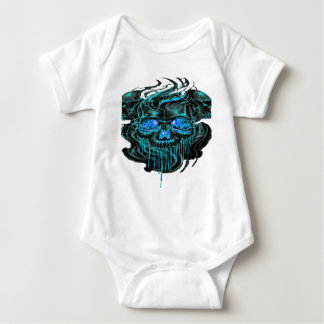 Winter Ice Skeletons PNG Baby Bodysuit