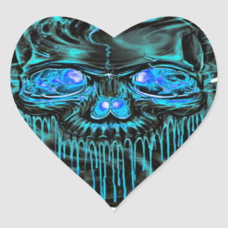 Winter Ice Skeletons PNG Heart Sticker