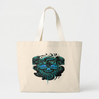 Winter Ice Skeletons PNG Large Tote Bag