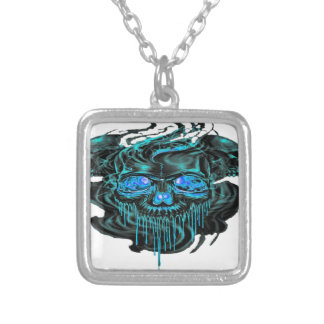 Winter Ice Skeletons PNG Silver Plated Necklace