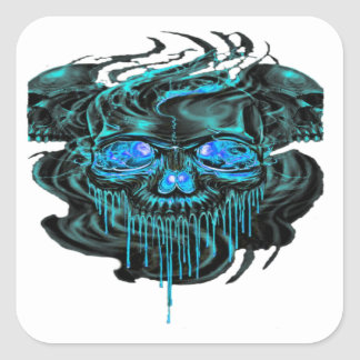 Winter Ice Skeletons PNG Square Sticker