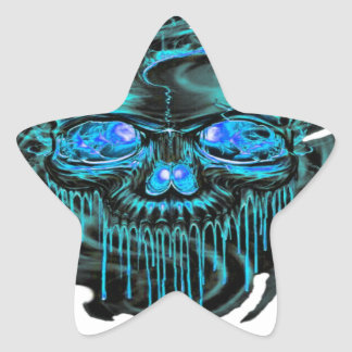 Winter Ice Skeletons PNG Star Sticker