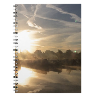 Winter in a marina - Canal life. Notebooks