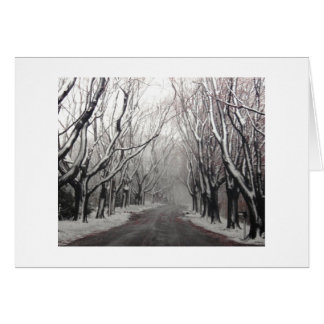 Winter in a Note Card