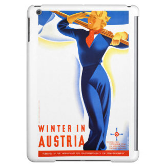 Winter in Austria Restored Vintage Travel Poster iPad Air Case