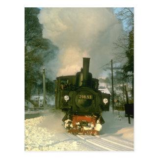 Winter in Austria sees No. 29853 enter Leonstein Postcard