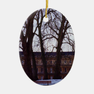 Winter in Bath Double-Sided Ceramic Ornament
