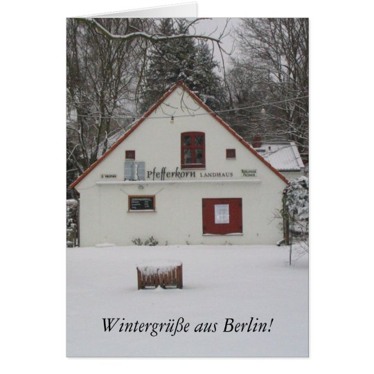 Winter in Berlin Card