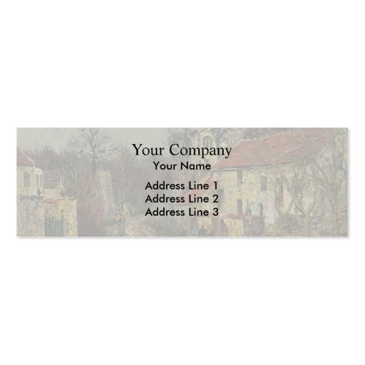 Winter in Chaponival by Gustave Loiseau Business Card