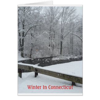 Winter In Connecticut Card
