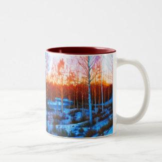 Winter in Dalarna Two-Tone Coffee Mug