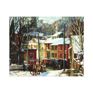 Winter in Gloucester, Massachusetts Canvas Print