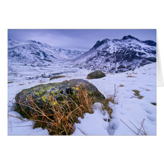 Winter in Great Langdale, The Lake District Card